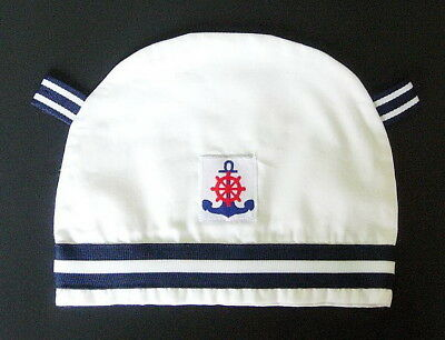 BABY BOY BABY GIRL SAILOR HAT White Unisex Bonnet Wedding Christening Clothing