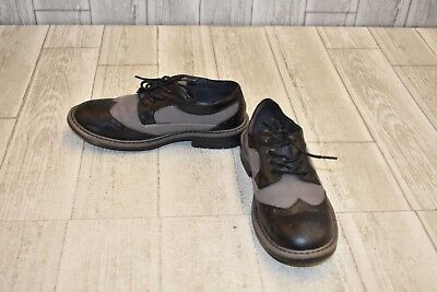 **Kenneth Cole Reaction Take Fair Oxford - Little Boys Size 2.5, Black/Grey