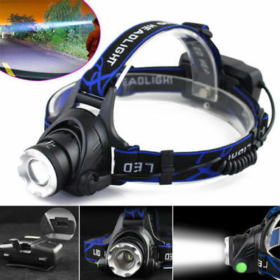 Tactical 30000LM Rechargeable T6 LED Headlamp 18650 Headlight Head Lamp Torch ZZ