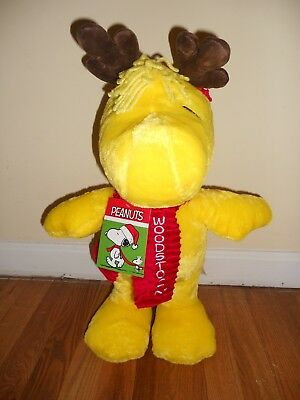 """20"""" WOODSTOCK SNOOPY PLUSH PORCH DOOR GREETER DOLL TOY ~ PEANUTS New w/ TAG"""