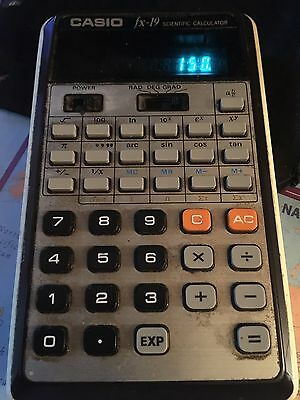 Vintage Casio FX 19 Scientific Calculator - Fully Working - Retro Calculator