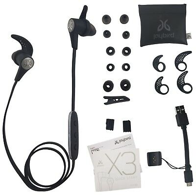 Jaybird X3 Sport Bluetooth Sweat-Proof Headset for iPhone and Android - Blackout