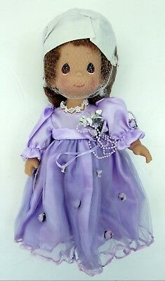 "Pretty As Can Be Doll Brunette 4742 12"" By Linda Rick Vinyl Precious Moments New"