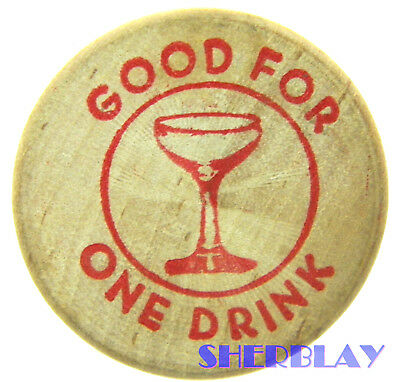 Good for One Drink token for Lake Almanor Cross Roads Intersection of A-13 & 147