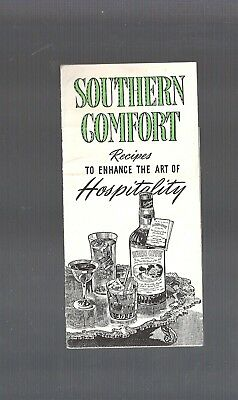 Collectible Vintage 1938 SOUTHERN COMFORT Hospitality Drink Recipe Pamphlet book