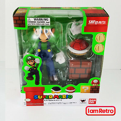 Luigi - Super Mario Bandai Tamashii Nations S.H. Figuarts USA Seller Free Ship