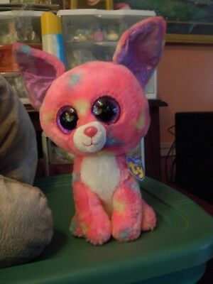 TY BEANIE BOO Cancun Pink Chihuahua Dog Plush 9
