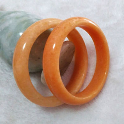 Natural Beautiful Sunset Red Jade Bracelet Chinese Hand-Carved Bangle58-60mm