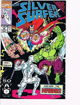 Silver Surfer # 58  NM 9.4  Infinity Gauntlet Crossover