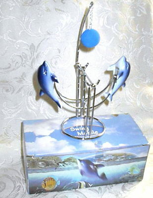 Perpetual Motion Dolphin Swing Mobile Cute Dolphins Hit Ball