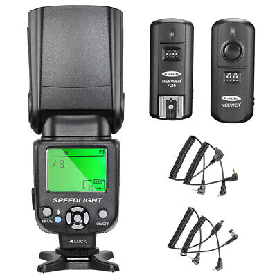 Neewer Kit de NW-561 Speedlite Flash con Pantalla LCD para Cámaras DSLR
