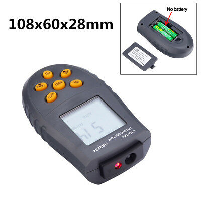 Non-contact Laser Tachometer LCD RPM Test Small Engine Motor Speed Gauge For Car
