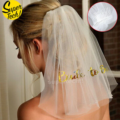 Bride To Be Veil Two-tier Hen Night Party Halloween Christmas Street Snap Bridal
