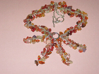 Agate & Sterling Necklace ~ Vintage ~ Hand Made
