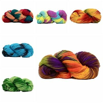 Mix-Colored Knitting Crocheting Thread Hand Knitting 4 Ply Soft Acrylic Yarn DIY