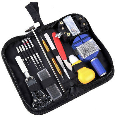 147Pcs Pro Watch Repair Kit Case Opener Spring Bar Tool-Hand Remover Tool Acc