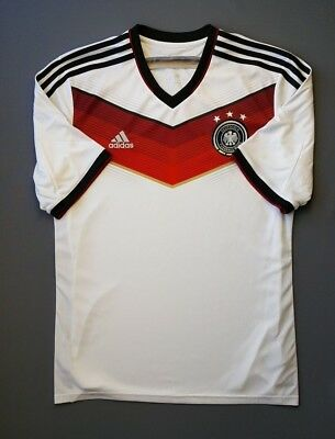 6db7bf475 5 5 Germany soccer jersey 2014 World Cup football home shirt size LARGE  Adidas