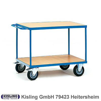 Fetra Table Trolley 2400 with 2 Wood Floors Wheel Ø 160 Mm