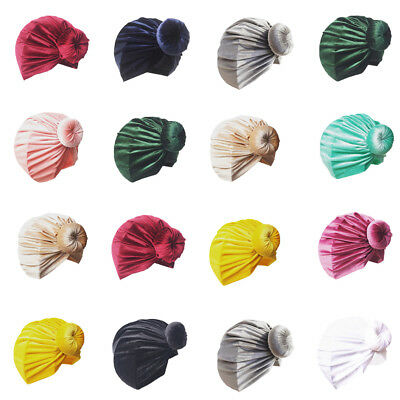 US Kids Girl Baby Toddler Turban Knotted Bow Hat Cap Headband Hair Band Headwear