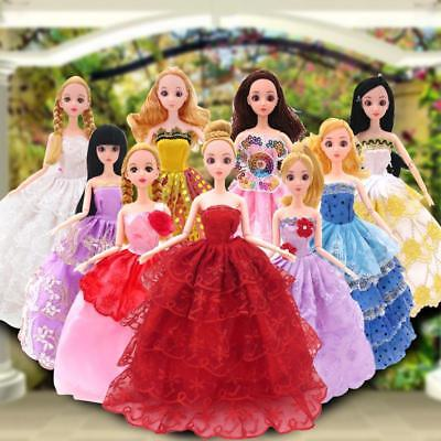 Nice Mini Gown Clothes 1Pc Barbie Doll Beauty Wedding Dress Party kzau
