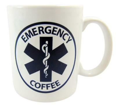 Emergency Coffee Mug EMT Paramedic Star of Life Beverage Cup Gift for Men or Wom