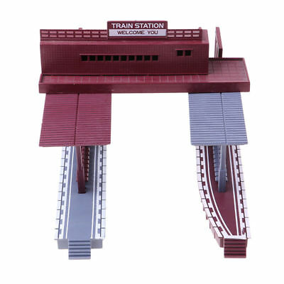 HO Scale Building 1/87 Model Train Railway Layout Shelter Station Toy Parts Accs