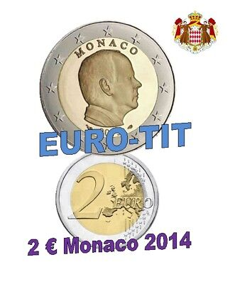 2 €     MONACO   PRINCE ALBERT  2014     PIECE   NEUVE        Disponible