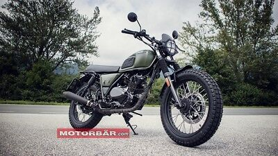 Brixton BX 125 BX125 Motorrad Motorcycle Naked Bike grün matt Great Britain