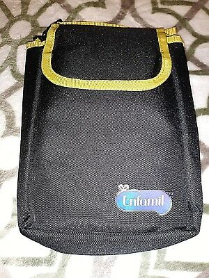 Enfamil Insulated Bottle Pouch and Diaper Changing Pad Black/Multicolored New