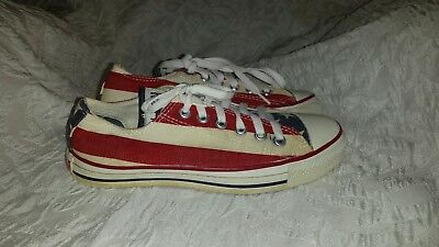 Converse All Star Chuck Taylor Made In USA American Flag Stars Stripes SZ 5