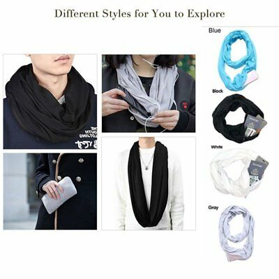 Convertible Journey Infinity Scarf With Pocket Multi-use Scarf With Pocket LI