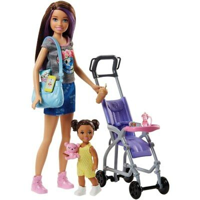 Barbie Skippers Babysitter Stroller With Baby Doll and Accesories Girls Playset