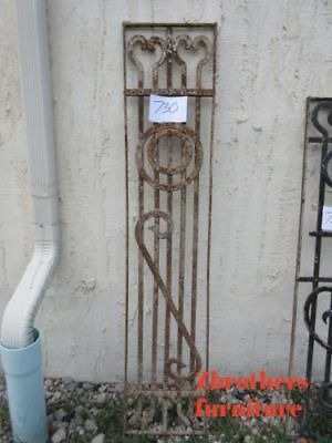 Antique Victorian Iron Gate Window Garden Fence Architectural Salvage #730