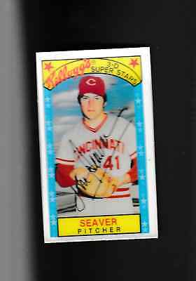 1979 Topps Kelloggs 3-D #15 Tom Seaver Reds Great Mint Top Grade