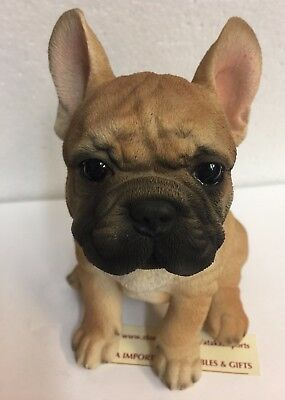 """Sit Up Cute French Bulldog Frenchie Puppy Dog Pet Pal 6.25"""" Figurine Statue New"""