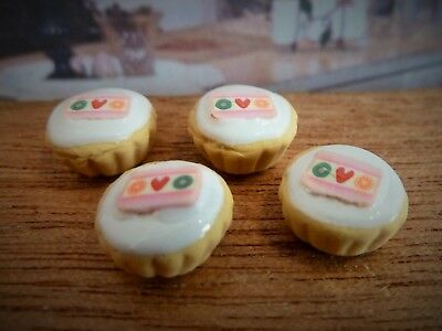 Dolls House Miniature Food Handmade * Sweet Strip Cupcakes *combined P+P
