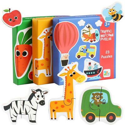 Wooden Puzzle Magnetic Jigsaw Toys Board Educational Kids Children Drawing S