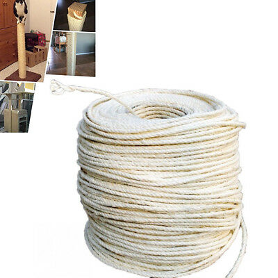 6MM Natural Sisal Rope Hemp Craft Twisted Twine Braided Rope Cat Scratching Gift