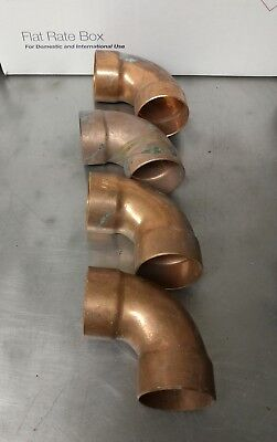 "1-1/2"" Copper DWV 90 Degree Elbow C x C Sweat Fitting NOS"