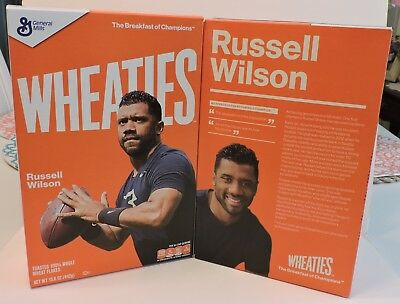 2018 Seattle Seahawks Quarterback #3 Russell Wilson Wheaties Cereal Box Sealed