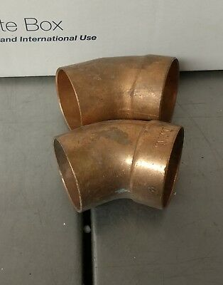 "1-1/2"" Copper DWV Street 45 Degree Elbow C x C Sweat Fitting NOS"