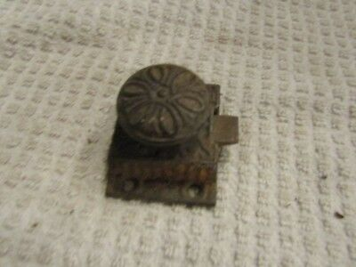 Antique Victorian Fancy Decorative Window Cabinet Latch Lock Mechanism