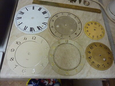 Useful Lot Old Clock Dials--- Spares-Parts