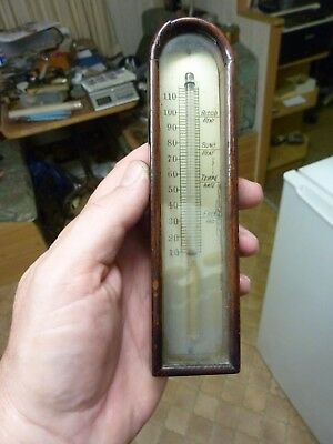19th CENTURY  BAROMETER THERMOMETER & ARCH BOX (VF)
