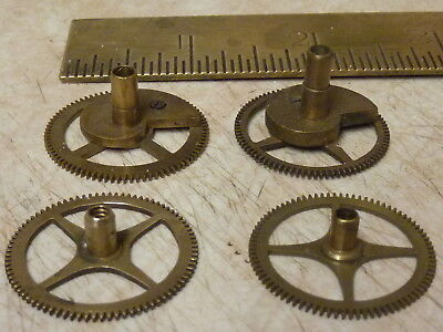 4 Useful Antique French Clock Hour Wheels