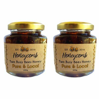Crystallised raw honeycomb - Two jar set - Direct from the Beekeepers