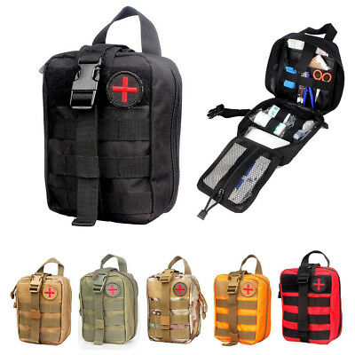 First Aid Kit Tactical Survival Kit Molle Rip-Away Pouch Bag Medical Kit US New