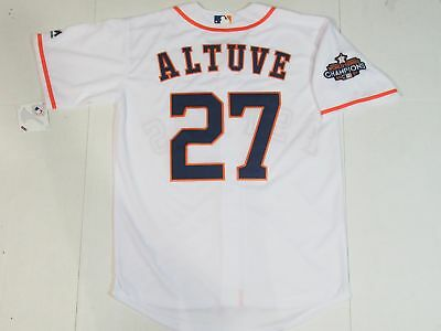 best website 78e4e 242e5 NEW JOSE ALTUVE #27 Houston Astros World Series Champions Cool Base Jersey  White