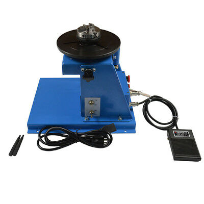 Brand New 110V Welding Positioner Turntable with 65mm Chuck & Foot Switch