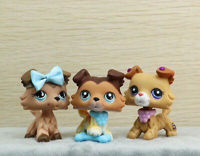 Littlest Pet Shop LPS Collie Dogs #58 #893 Toys Authentic + LPS Accessories Rare